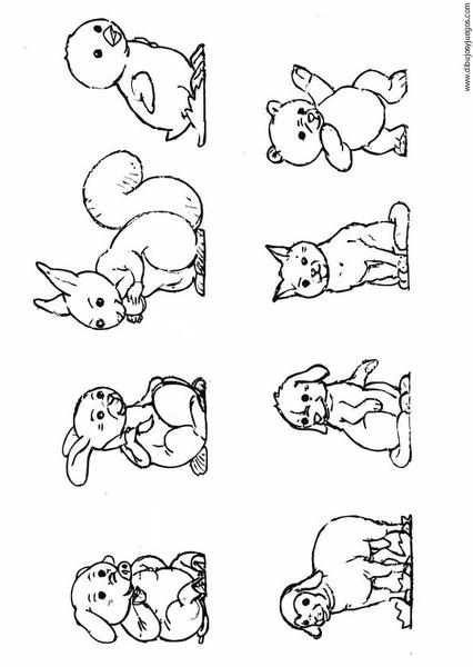 animales-02 | Dibujos y juegos, para pintar y colorear