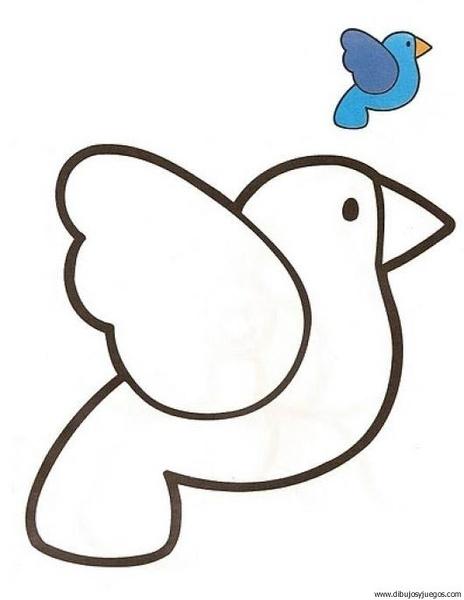 Ave Pajaro 01 Dibujos Y Juegos Para Pintar Y Colorear