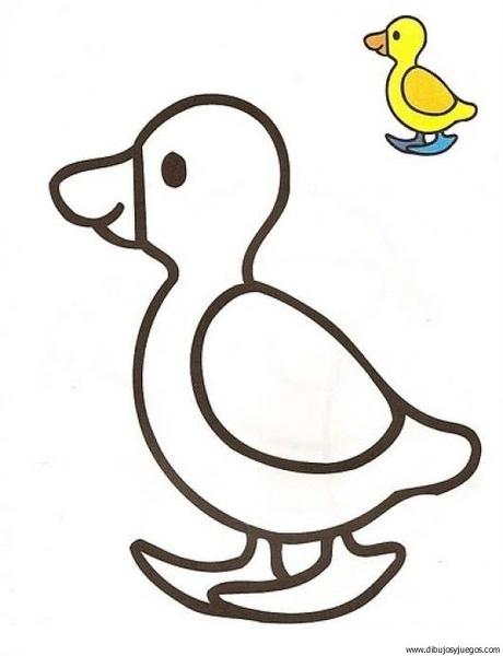 ave-pato-01 | Dibujos y juegos, para pintar y colorear