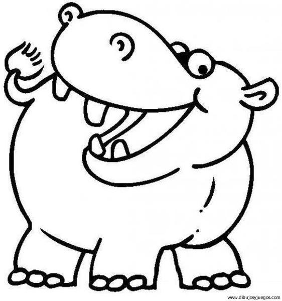 hipopotamo | Dibujos y juegos, para pintar y colorear
