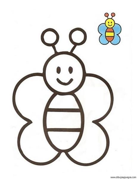 Mariposa 01 Dibujos Y Juegos Para Pintar Y Colorear