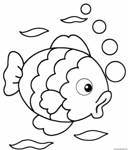 pez-05 | Dibujos y juegos, para pintar y colorear