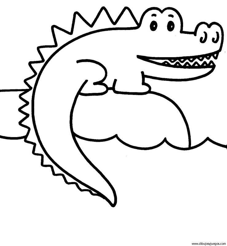 crocodilo | Dibujos y juegos, para pintar y colorear