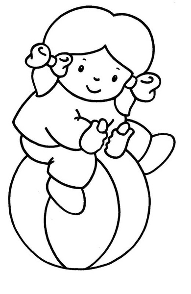 Ninya pelota 01 dibujos y juegos para pintar y colorear - Coloriage tout petit ...