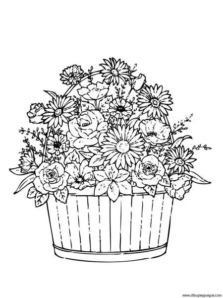 dibujo-flores-ramos-014   Dibujos y juegos, para pintar y colorear