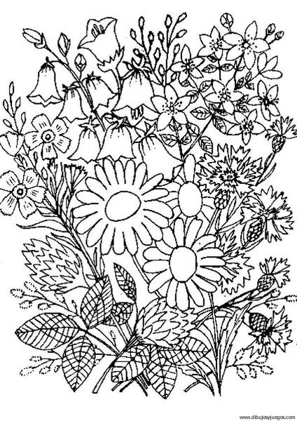dibujo-flores-ramos-018  Dibujos y juegos, para pintar y ...