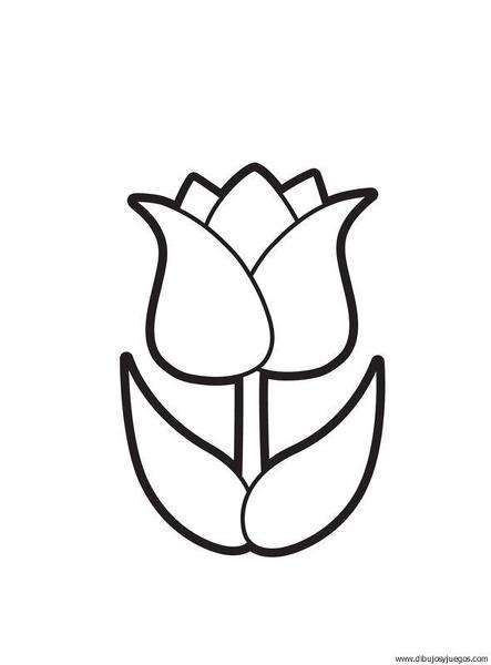 Flor tulipan para colorear - Imagui