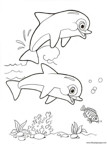 dibujo-de-delfin-046 | Dibujos y juegos, para pintar y colorear
