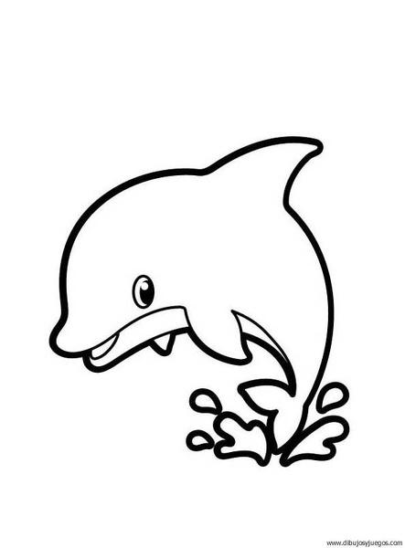 dibujo-de-delfin-000 | Dibujos y juegos, para pintar y colorear
