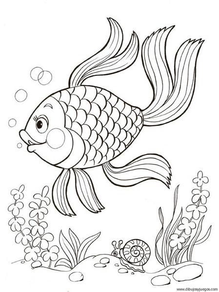 dibujo-de-pez-122 | Dibujos y juegos, para pintar y colorear