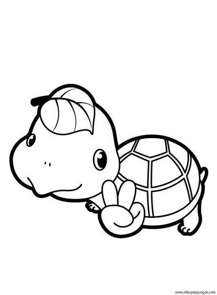 dibujo-de-tortuga-068 | Dibujos y juegos, para pintar y colorear