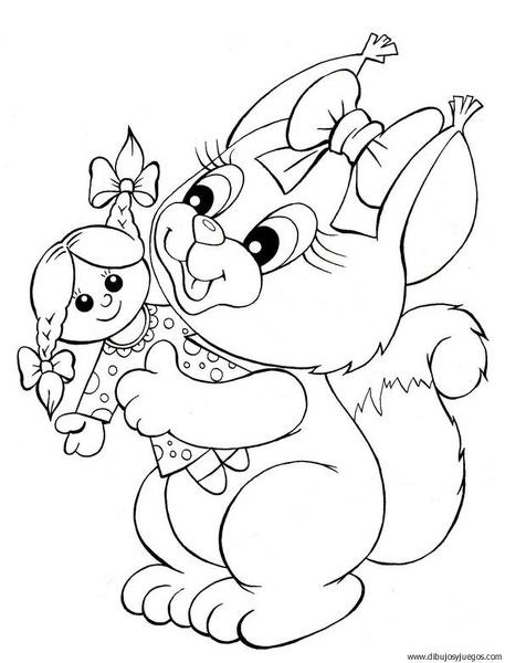dibujo-de-ardilla-37 | Dibujos y juegos, para pintar y colorear