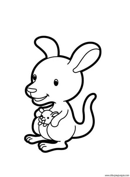 dibujo-de-canguro-00   Dibujos y juegos, para pintar y colorear
