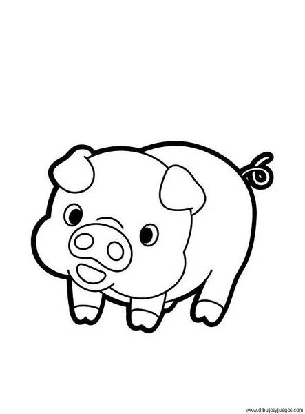 dibujo-de-cerdo-00 | Dibujos y juegos, para pintar y colorear
