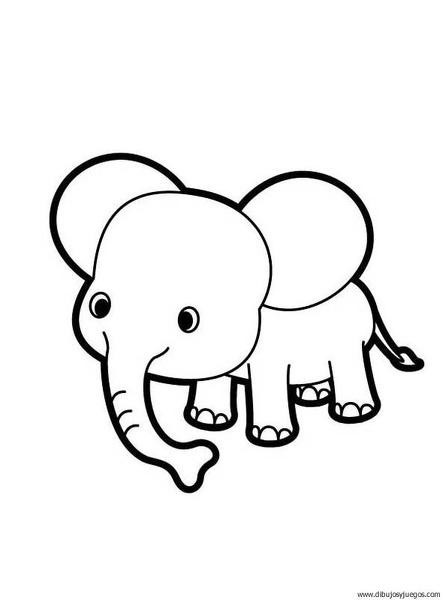 dibujo-de-elefante-000 | Dibujos y juegos, para pintar y colorear