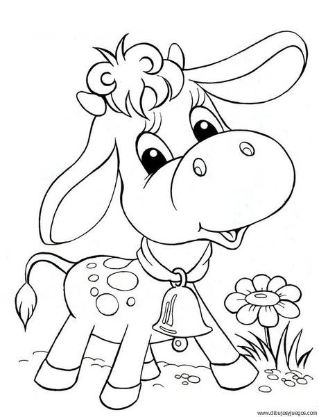 Cara de la vaca para colorear - Imagui