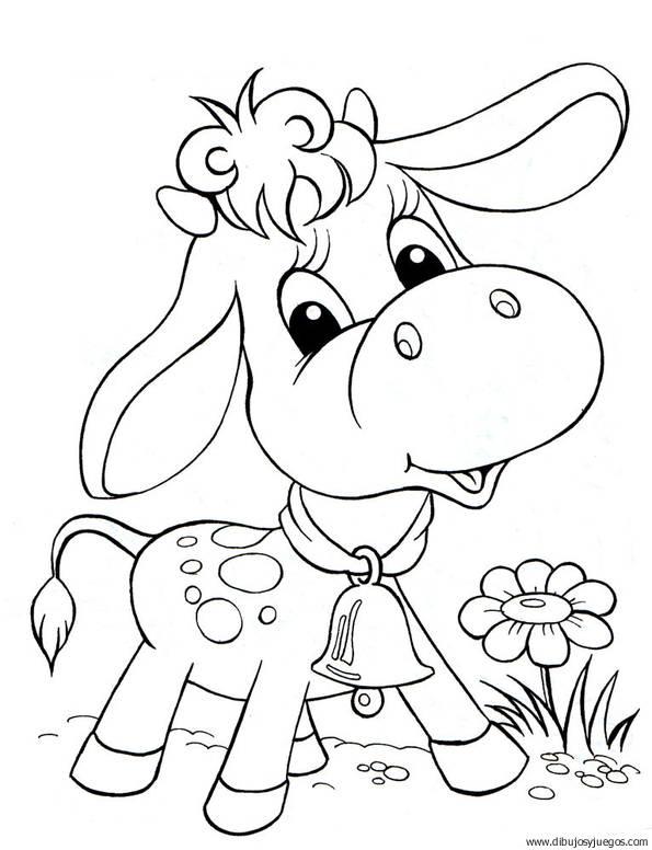 dibujo-de-vaca-055 | Dibujos y juegos, para pintar y colorear